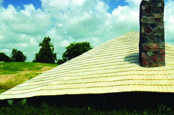 Monopitch roof garden fireplace Grobiņa