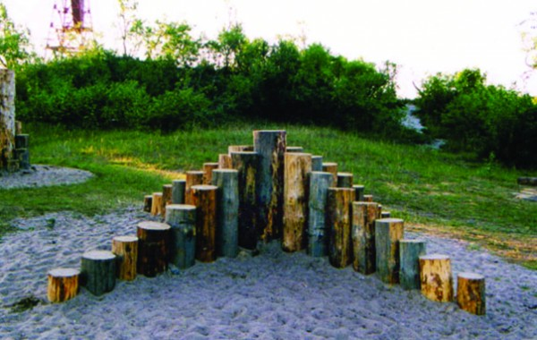 Recreational amenities at the place of the Baltic Sea coast