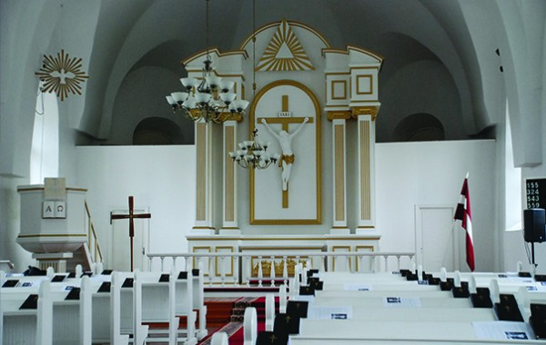 Interjers Grobiņas ev.-lut. baznīcā